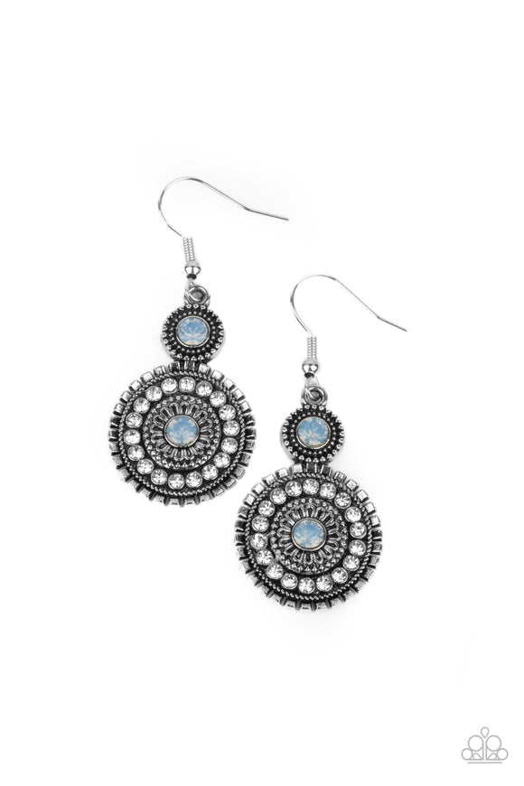Paparazzi Opulent Outreach - Blue - Earrings
