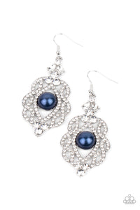 PRE-ORDER - Paparazzi Rhinestone Renaissance - Blue - Earrings - Lauren's Bling $5.00 Paparazzi Jewelry Boutique