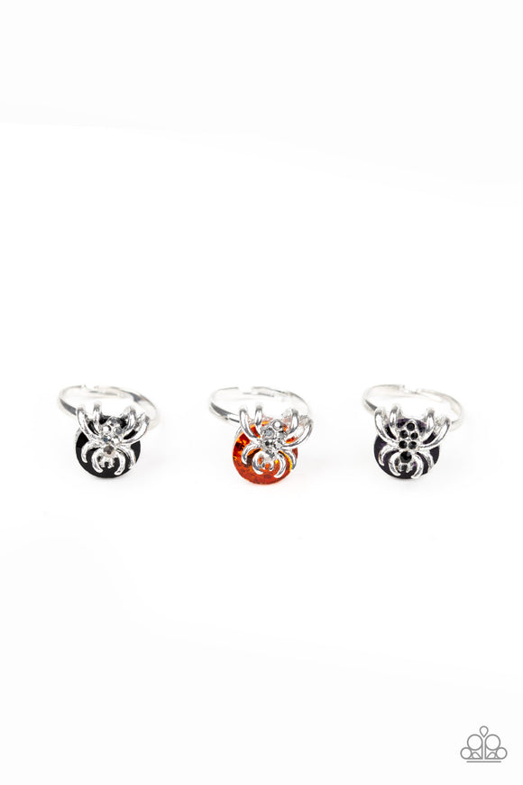 Paparazzi Starlet Shimmer Girls Rings - 10 - Halloween Spiders w/Rhinestones