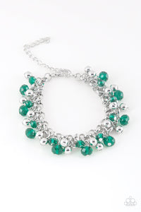 Just For The FUND Of It! - Green Bracelet - Lauren's Bling $5.00 Paparazzi Jewelry Boutique