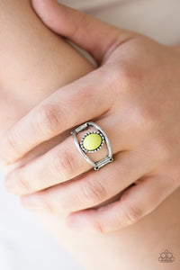 Paparazzi Summer Tour - Green - Yellow - Lime Punch Bead - Silver Ring - Lauren's Bling $5.00 Paparazzi Jewelry Boutique