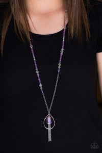 Paparazzi Teardroppin Tassels - Purple Beads - Silver Chains - Necklace and matching Earrings - Lauren's Bling $5.00 Paparazzi Jewelry Boutique