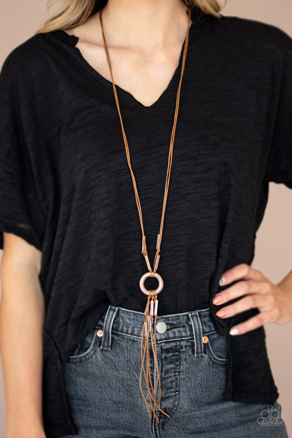 Paparazzi Tasseled Trinket - Copper - Antiqued Ring - Necklace & Earrings - Lauren's Bling $5.00 Paparazzi Jewelry Boutique