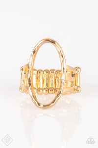Paparazzi Center Chic - Gold - Ring - Trend Blend / Fashion Fix Exclusive - Lauren's Bling $5.00 Paparazzi Jewelry Boutique
