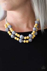 Paparazzi Galapagos Glam - Multi - Yellow & Gray Beading - Necklace & Earrings - Lauren's Bling $5.00 Paparazzi Jewelry Boutique