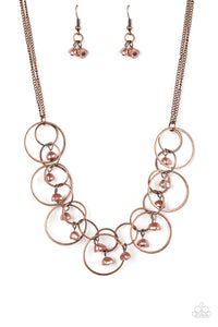 Seafront Scene - Copper - Necklace - Lauren's Bling $5.00 Paparazzi Jewelry Boutique