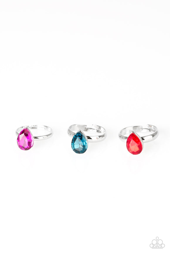 Paparazzi Starlet Shimmer Rings - 10 - Emerald Cut - Pink, Green, Red, White - Lauren's Bling $5.00 Paparazzi Jewelry Boutique