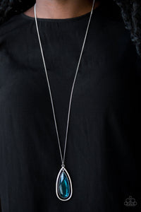 Paparazzi Accessories - The Royal Coronation - Blue - Teardrop Gem - Necklace and matching Earrings - Lauren's Bling $5.00 Paparazzi Jewelry Boutique