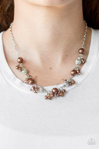 Paparazzi Weekday Wedding - Brown Pearls - Silver Chain Necklace & Earrings - Lauren's Bling $5.00 Paparazzi Jewelry Boutique