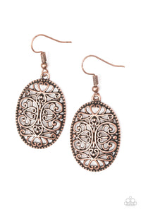 Paparazzi Wistfully Whimsical - Copper Filigree - Earrings - Lauren's Bling $5.00 Paparazzi Jewelry Boutique
