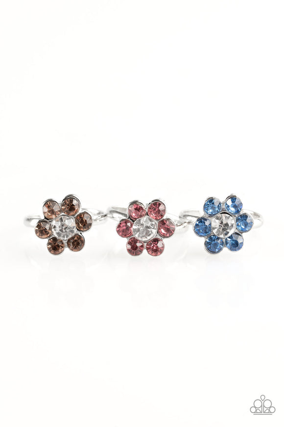 Paparazzi Starlet Shimmer Rings - 10 - Flowers - Purple, Red, Blue, Green