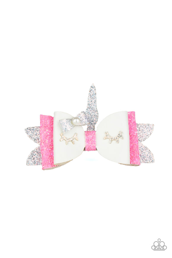 Paparazzi All Rainbows and Unicorns - White - Hair Clip