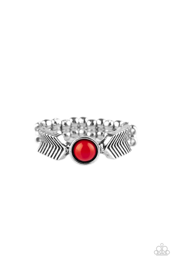 PRE-ORDER - Paparazzi Awesomely ARROW-Dynamic - Red - Ring