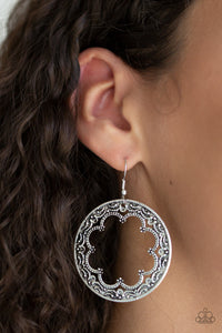 Paparazzi Whimsical Wheelhouse - Silver - Vine Filigree - Earrings - Lauren's Bling $5.00 Paparazzi Jewelry Boutique