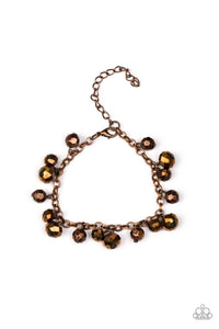 Paparazzi Brilliantly Burlesque - Copper - Faceted Metallic Crystal Beads - Bracelet - Lauren's Bling $5.00 Paparazzi Jewelry Boutique