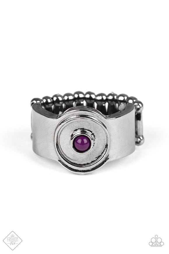 Cant BEAD That! - Purple - Ring - January 2019 Fashion Fix Exclusive