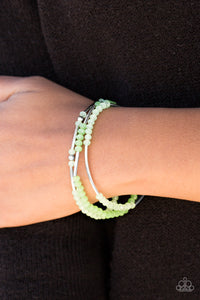 Paparazzi Dream Gleam - Green Beading - Set of 3 Stretchy Bands Bracelets - Lauren's Bling $5.00 Paparazzi Jewelry Boutique
