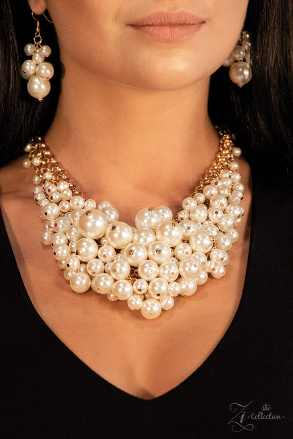 Paparazzi Exec-YOU-tive Zi Collection - Necklace and matching Earrings