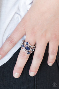 Paparazzi Moon Mood - Blue Moonstone - Silver Ring - Lauren's Bling $5.00 Paparazzi Jewelry Boutique