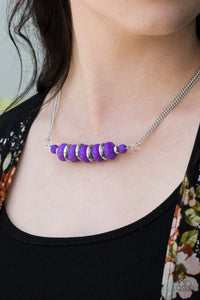 Paparazzi On Mountain Time - Purple - Beading - Double Chain Necklace & Earrings - Lauren's Bling $5.00 Paparazzi Jewelry Boutique