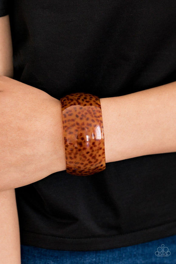 Paparazzi Jungle Cruise - Brown - Acrylic Cuff Bracelet - Lauren's Bling $5.00 Paparazzi Jewelry Boutique