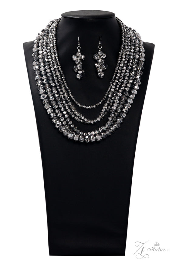 Paparazzi Knockout Exclusive Zi Collection - 2019 Necklace and matching Earrings