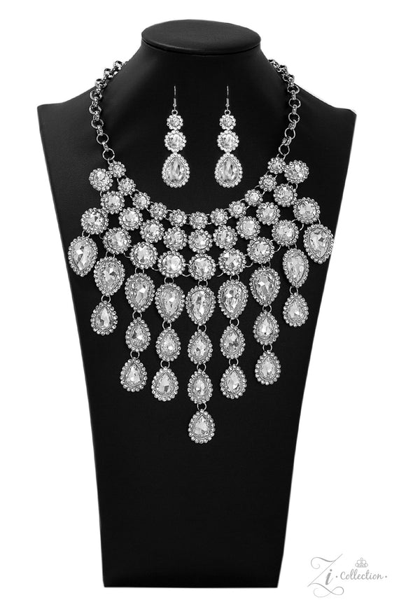 Paparazzi Mesmerize - Exclusive Zi Collection - 2019 Necklace and matching Earrings