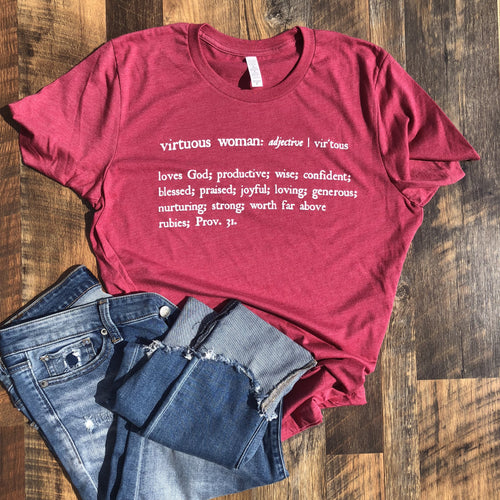 Virtuous Woman T-Shirt | Proverbs 31