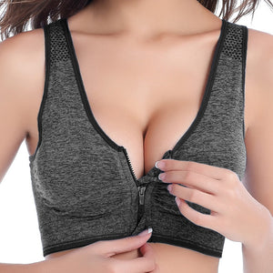Zipper Professional Wireless Shockproof Bra