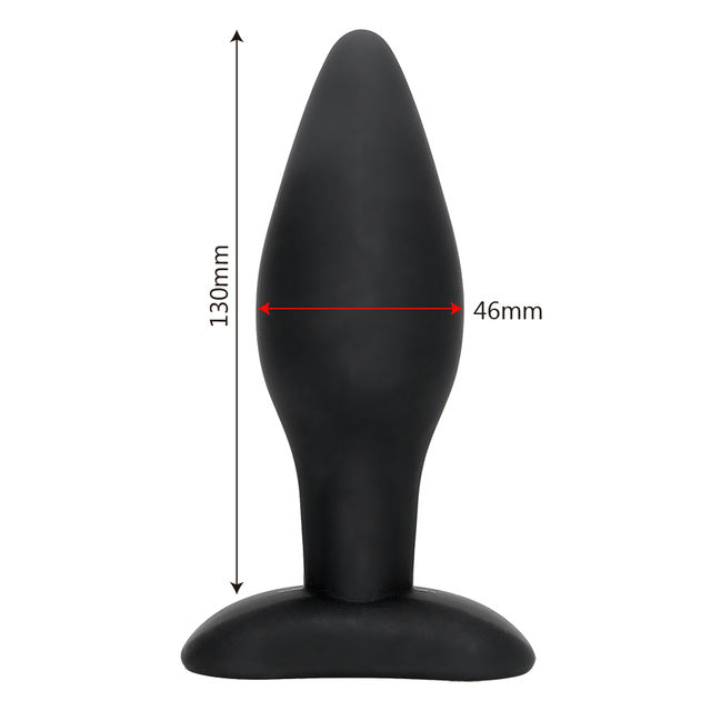 IKOKY Sexy Black Silicone Anal Plug Massage Adult Sex Toys For Women Man Gay Anal But Plug Set Buttplug Butt Plugs Sex Products