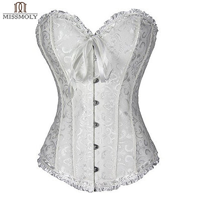Women Sexy Burlesque Overbust Corset Bustier Top With Mini TuTu Skirt Fancy Dresses Costume Sexy Gothic Corsets Dress