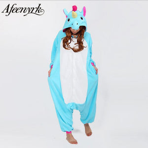 AFEENYRK unicorn Womens Soft comfortable Pajamas Set Sleepwear Loungewear Pajamas Unisex Homewear For girl/ boys/Sleepwear Adult