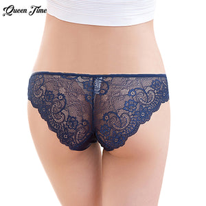 Brand  Underwear Women Lace Briefs Ultra-thin Comfort Low Waist Seamless Solid 2017 New Panties 6 Colors XL 1PCS hot sale