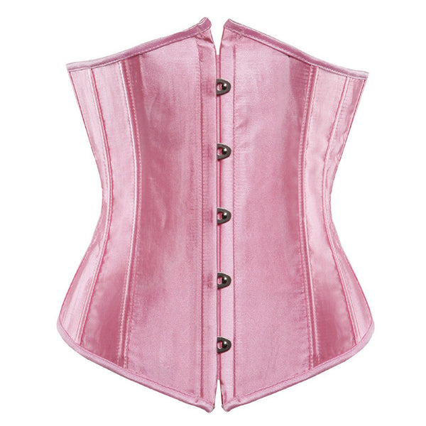 Sapubonva plus size sexy corset underbust bodyshaper costumes corsets bustiers ladies burlesque corselet red blue black pink