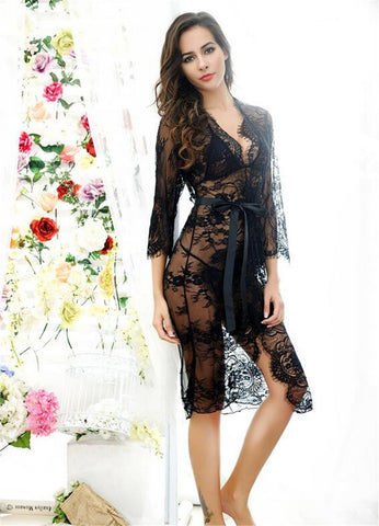 2017 New Design Lingerie For Women Sexy underwear Ladies Lace Transparent Erotic Lingerie Conjoined Dress Suit