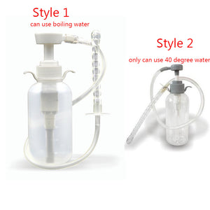 Anal Douche Cleaner Enema Vagina Wash Bottle Tube Anal Sex Toys For Men Woman Gay Nozzle Pump Enema Bag Sex Products Sexy Shop