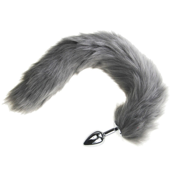 SM Dog Tail Anal Plug sexy Toys Metal Fake Fur Fox Butt Plug BDSM Flirt Anus Plug For Women Adult Games Product For Couples
