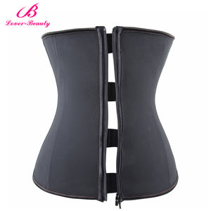 Lover Beauty Corset Zipper And Hooks Combo Rubber Latex Waist Corset Waist Cincher Corset Underbust Corset Clip Zip Waist Traine