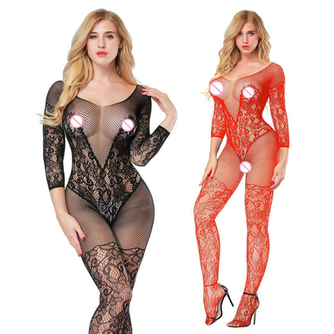 Women's Rompers Sleep & Lounge Sexy Sleep Tops Exotic bodystockings Open Crotch Sexy Underwear Plus Size Lingerie Sleepwear