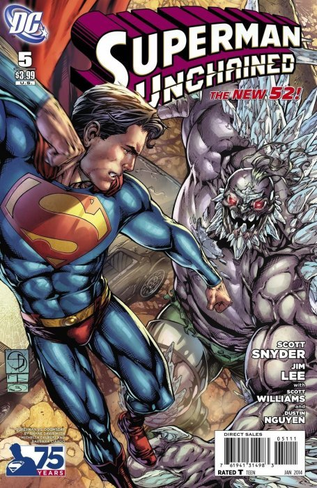 Superman Unchained (2013) #5 (1:25 75th Anniversary Variant Villain Cover)