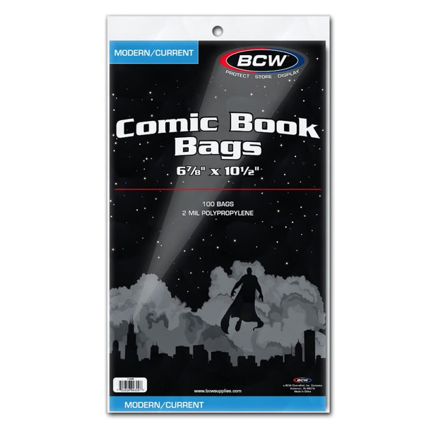 Comic Bags - Current Size (100 count pack)