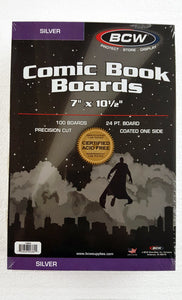 Comic Backing Boards - Silver-Age (100 count pack)