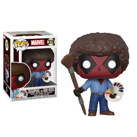 Pop Deadpool Bob Ross Vinyl Figure