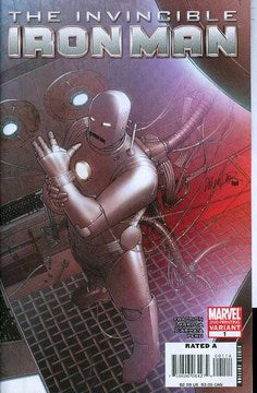 Invincible Iron Man (2008) #1 (2nd Print Larroca Variant)