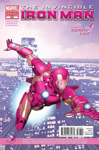 Invincible Iron Man (2008) #526 (Komen Variant)