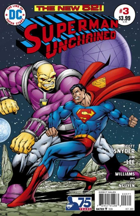 Superman Unchained (2013) #3 (1:50 75th Anniv Variant Bronze Age)