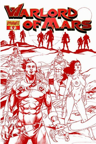 Warlord of Mars (2010) #9 (1:10 Sadowski Red Variant)