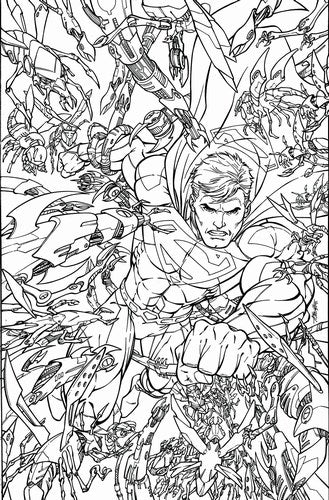 Superman (2011) #48 (Adult Coloring Book Var Ed)