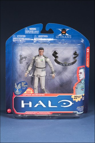 Halo 10th Anniversary Series 2 Captain Jacob Keyes Action Figure