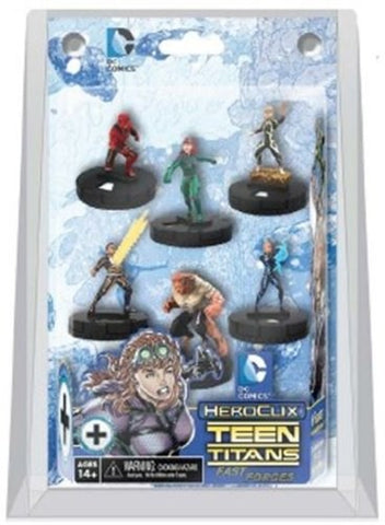 DC Heroclix Teen Titans Ravagers Fast Forces 6-Pack